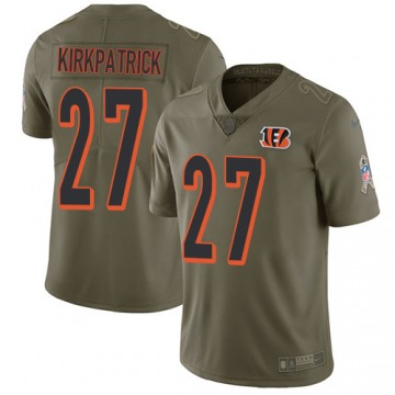 Men's Cincinnati Bengals Dre Kirkpatrick Olive Limited 2017 Salute to Service Jersey By Nike