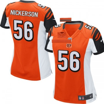 Women's Cincinnati Bengals Hardy Nickerson Orange Game Jersey By Nike
