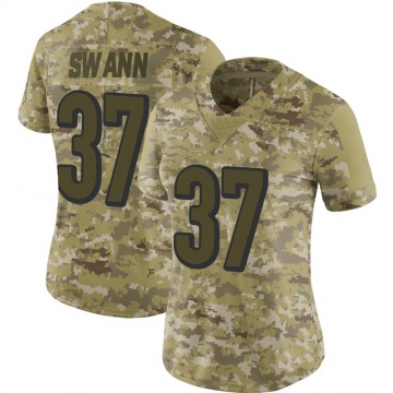 Women's Cincinnati Bengals Isiah Swann Camo Limited 2018 Salute to Service Jersey By Nike