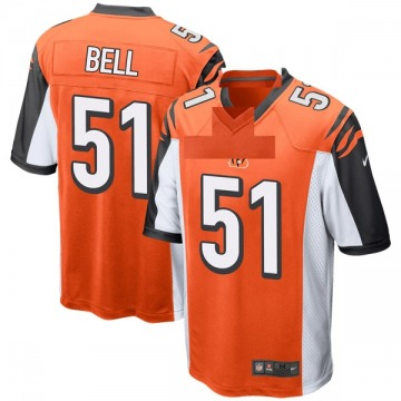 Youth Cincinnati Bengals Brandon Bell Orange Game Jersey By Nike